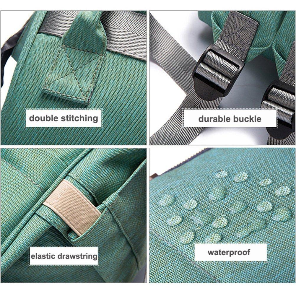 Yimoji - Mochila / cambiador de pañales de gran capacidad, bolsa multifuncional de viaje para pañales, para mamás y papás, 3 bolsillos con aislante térmico ...