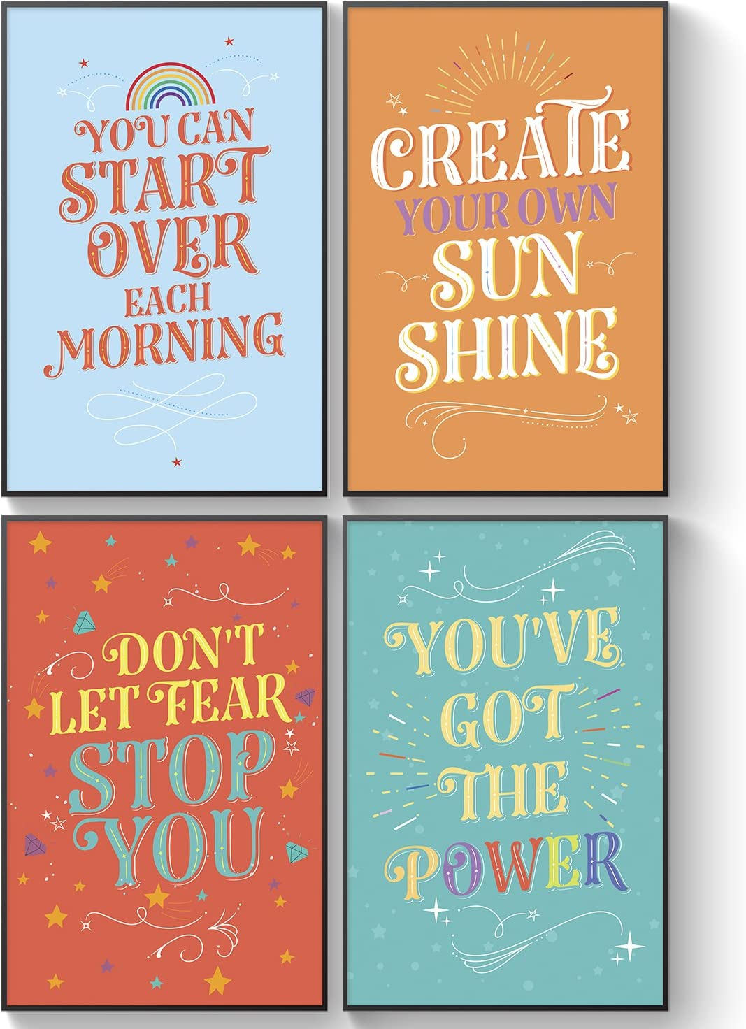 Shareable Kids Posters, Unusual Friendship Gift, Inspirational Wall Art for Children - Motivational Posters, Graduation Gifts