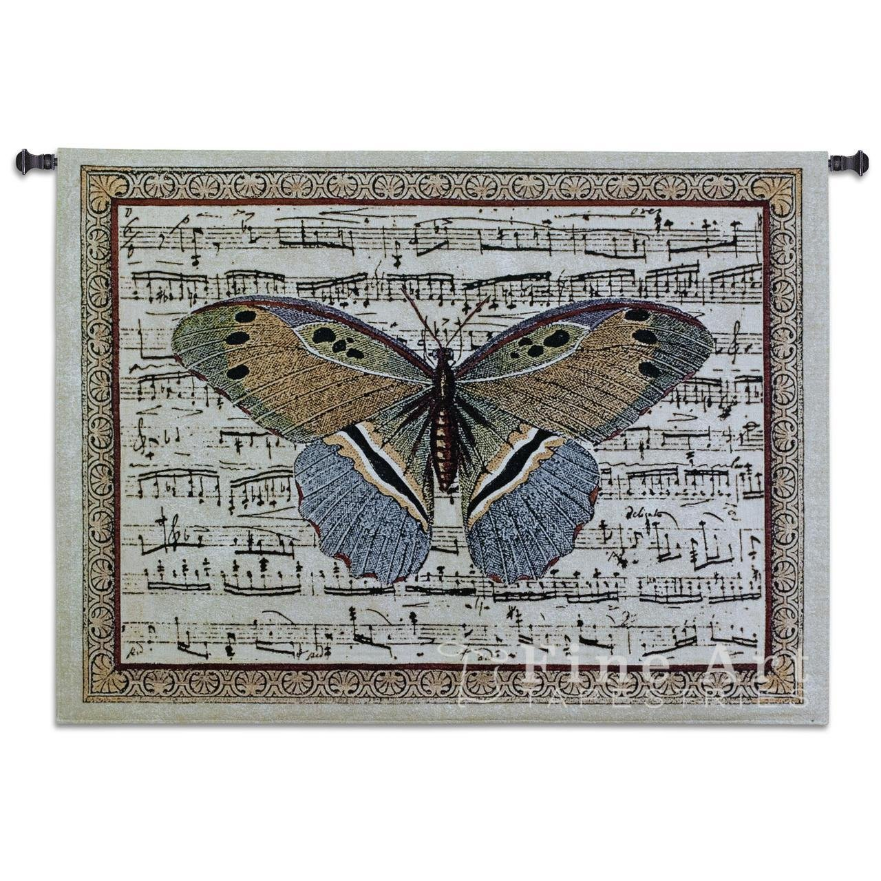 Fine Art Tapestries ''Butterfly Dance II'' Wall Tapestry, Large