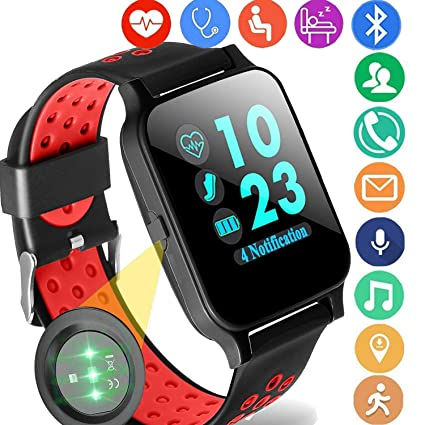Qiwoo Fitness Tracker for Women Men with Blood Pressure Heart Rate Monitor Pedometer Calorie Wrist Stopwatch