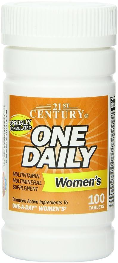 21st Century Health Care, Uno diarias, mujeres, 100 tabletas