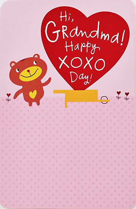 Happy Heart Day Wishes For Grandma Valentines Day Greeting Card Extra Love
