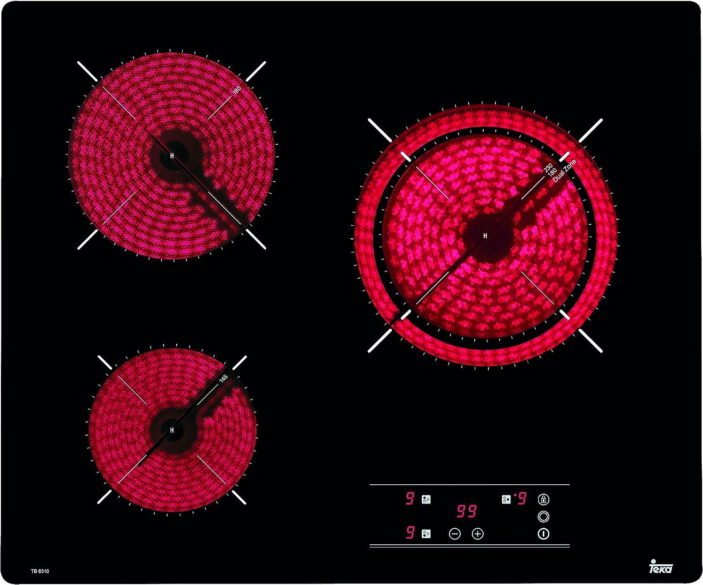 Teka TB6310 Integrado Cerámico Negro - Placa (Integrado, Cerámico ...