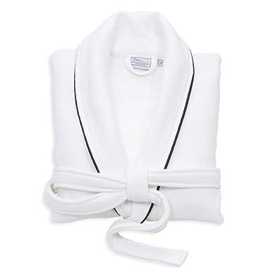 Linum Home Textiles WT00-99-SM 100% Turkish Cotton Waffle Terry Bathrobe, S/M, White