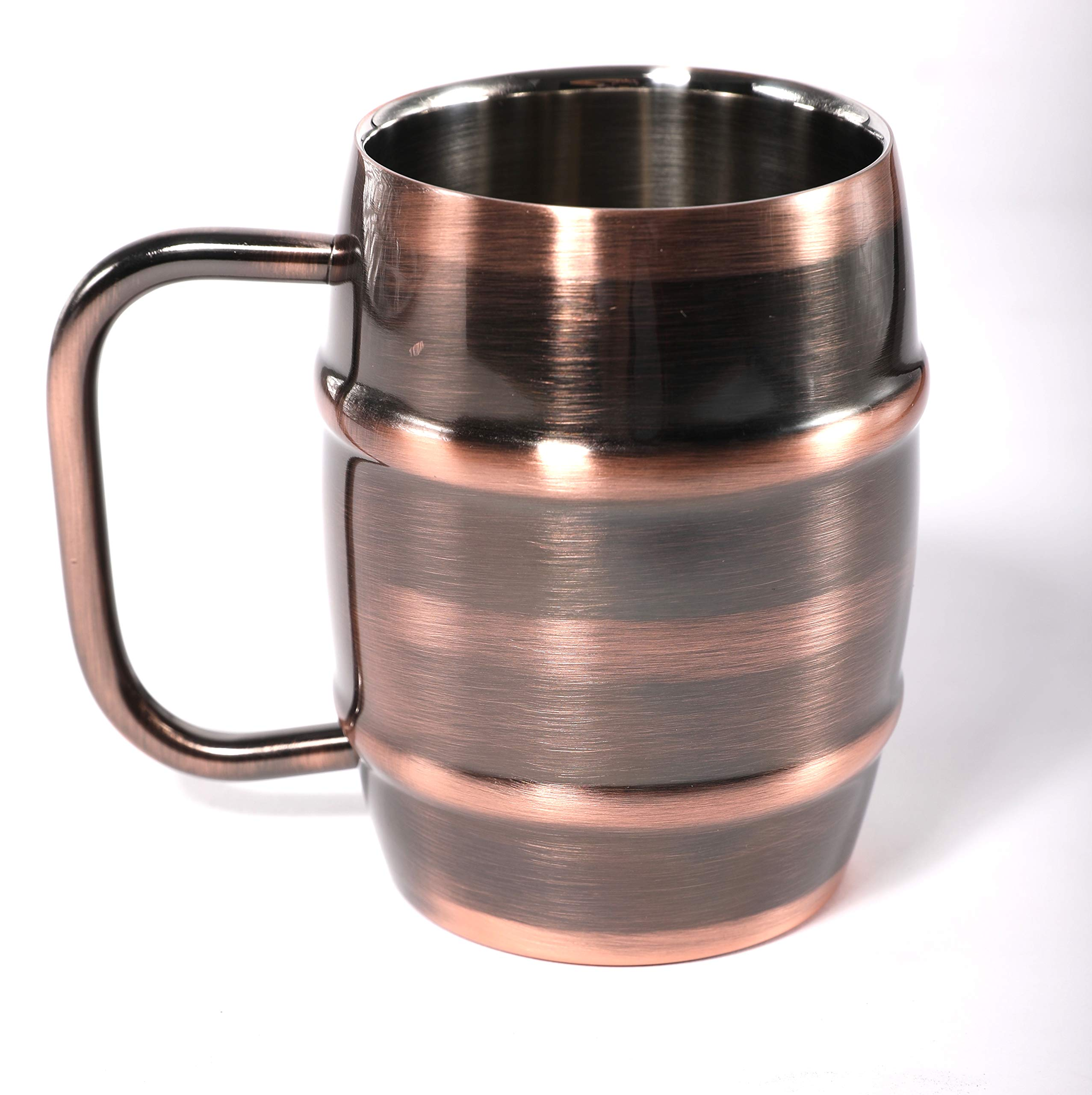 ANVENTI Double Wall Stainless Steel Insulated Coffee Mug (Copper) 400ml 14oz 2PCS/CASE