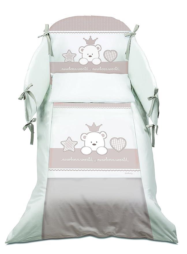 Italbaby Maxi bebé Re Juego de cama, Gris/Blanco, Juego de 5: Amazon.es: Bebé