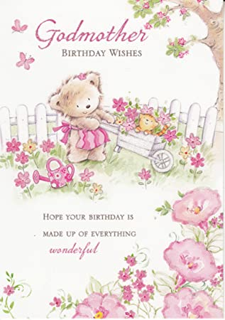 Godmother birthday wishes birthday greeting card amazon godmother birthday wishes birthday greeting card bookmarktalkfo Gallery