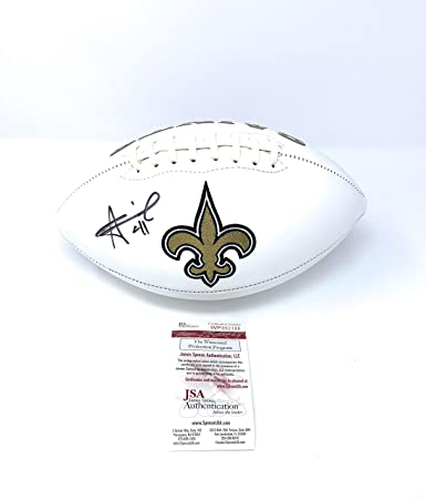 8fc1a4ca Alvin Kamara New Orleans Saints Signed Autograph Embroidered Logo Football  JSA Certified