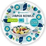 Member's Mark Paper Microwaveable Bowl, Advanced Soak Protection, 12 oz. (175 ct.) Bonus of 20 Prestee Spoons