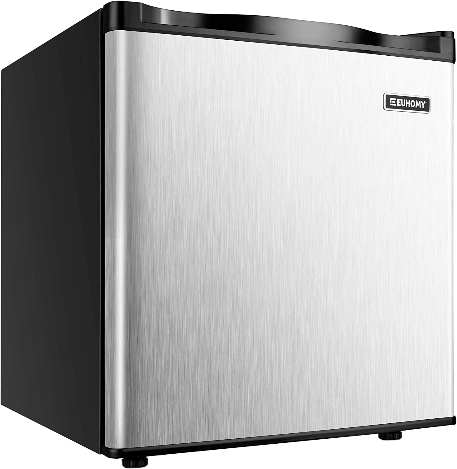 Upright Freezer ft Two Removable Shelves and Three-layers Glass Door Coollife 1.1 cu Compact Fridge Freezer with Adjustable Thermostat for Ice Cream//Breast Milk//Sea Food//High-alcohol Liquor