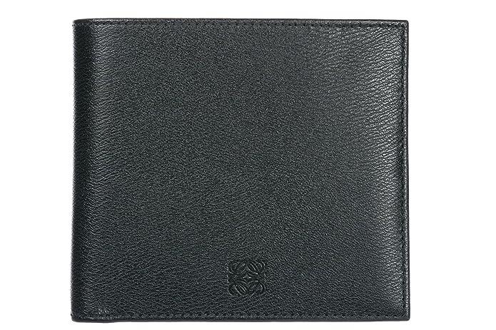Loewe cartera billetera bifold de hombre en piel nuevo negro ...