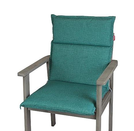 Herlag Clara P222022-2169 - Cojín Acolchado para Muebles de jardín, Color Azul petróleo, 100% Espuma de Poliuretano: Amazon.es: Jardín