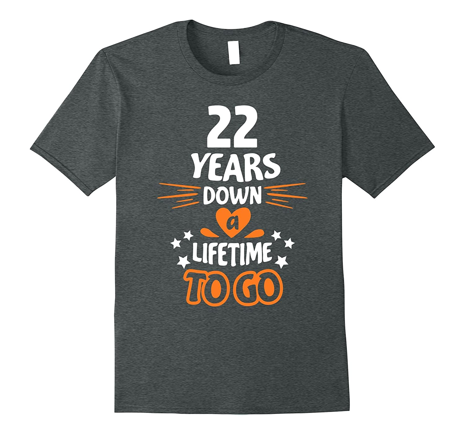 22nd Wedding Anniversary Gift Ideas: 22nd Wedding Anniversary Gift For Parents 22 Years T-Shirt-PL