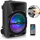 Pyle Wireless Portable PA Speaker System - 800W High Powered Bluetooth Compatible Indoor & Outdoor DJ Sound Stereo Loudspeake
