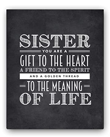 amazon com sister quote sign unique sister gift sister chalkboard