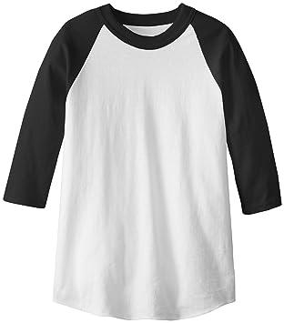 Amazon.com : MJ Soffe Kid's 3/4 Sleeve Baseball Jersey : Baseball ...