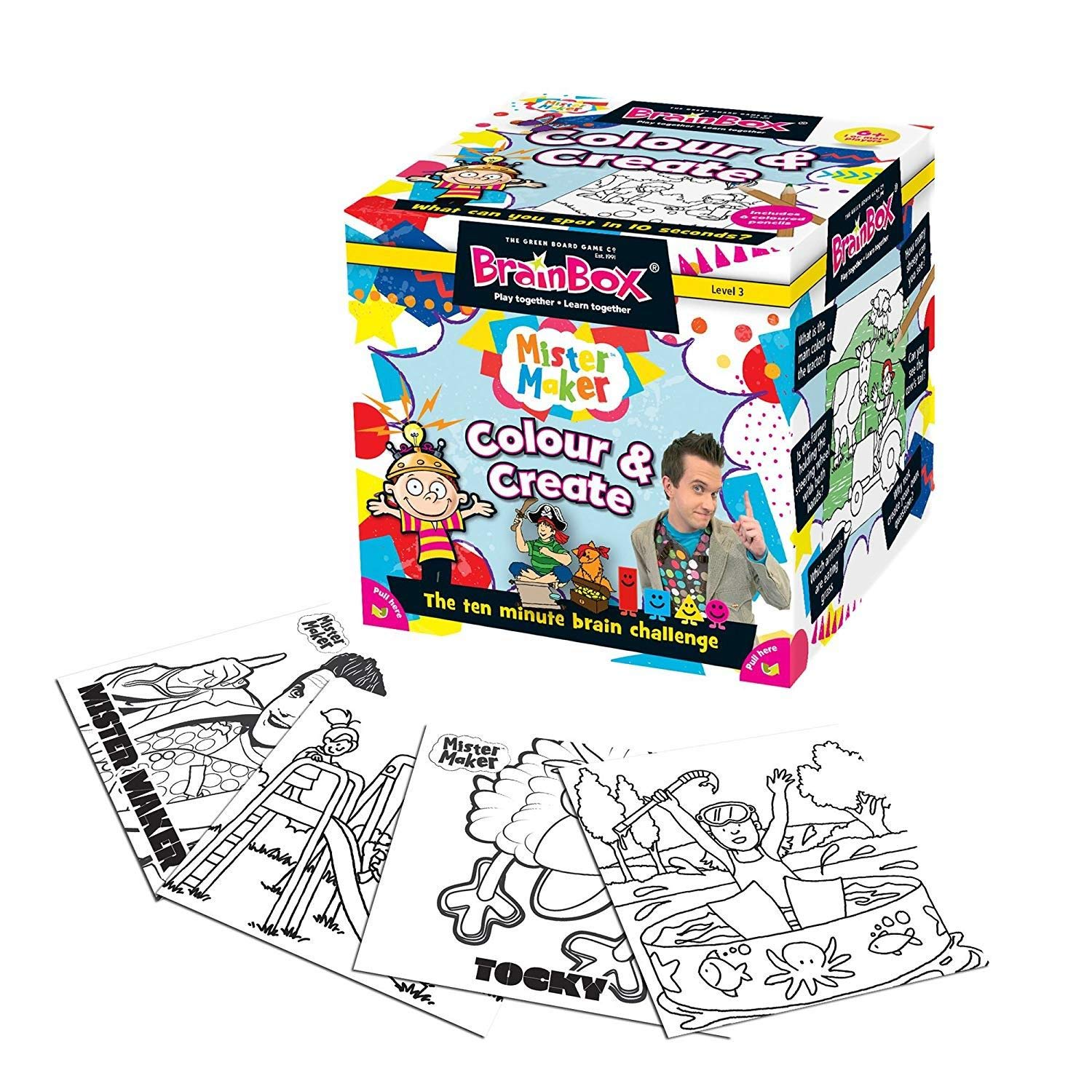 BrainBox - Mister Maker Colour and Create Memory Game by The verde Board Game Co.