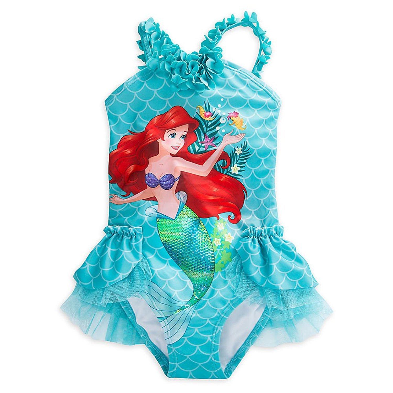 Disney Traje de ba?o Ariel Deluxe para ni?as talla 2 azul ...