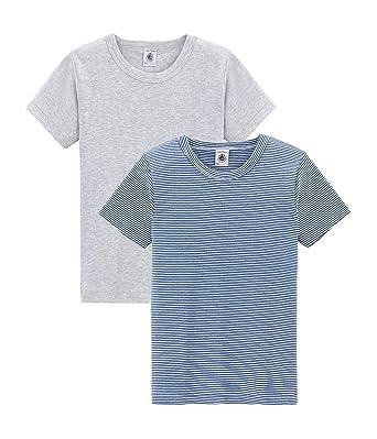 33fd06aede6 Petit Bateau T-Shirt Garçon (Lot de 2)  Amazon.fr  Vêtements et accessoires