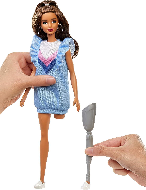 Amazon.es: Barbie Fashionista Muñeca morena con pierna protésica (Mattel FXL54), color/modelo surtido: Juguetes y juegos