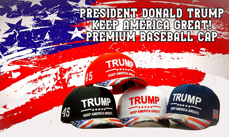 Huiyoo Trump cap New Trump 2020 Cap Baseball Cap Keep America Great Usa Flag Women Men Embroidery Hat