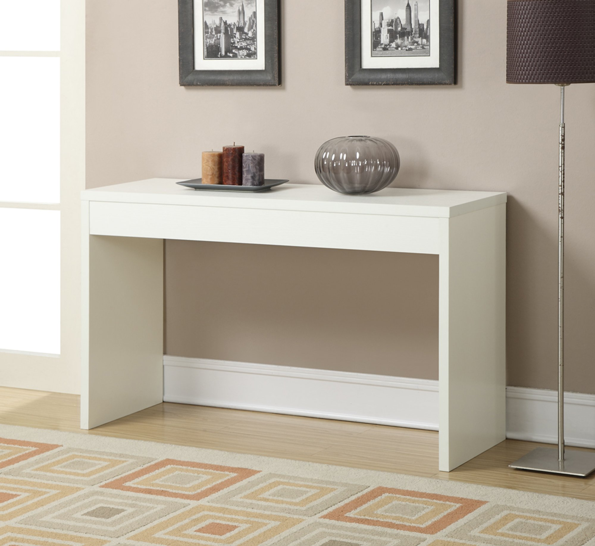 Convenience Concepts Northfield Hall Console Table, White by Convenience Concepts