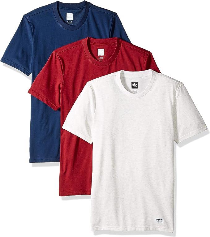 Tormento Cusco Elevado  adidas Originals Men's Skateboarding 3 Pack Tees, Pale Melange  Navy/Collegiate Burgundy, XS: Clothing - Amazon.com