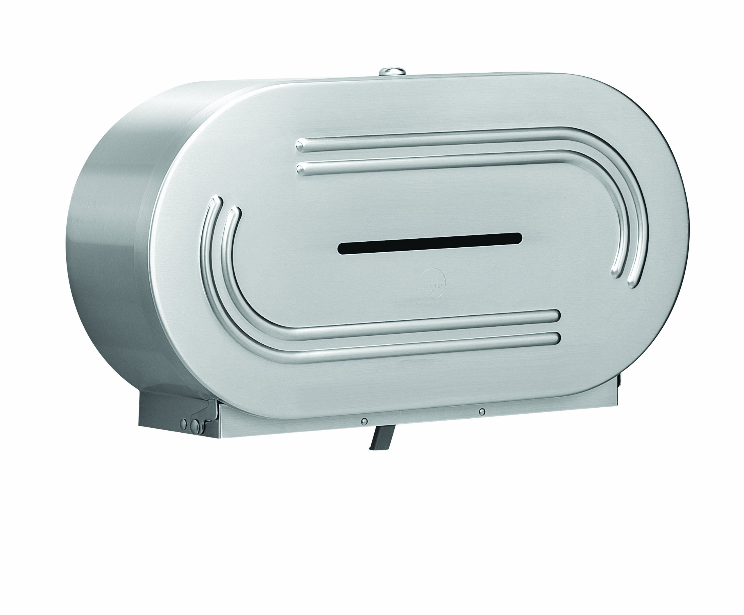 Bradley 5425-000000 18 Gauge Stainless Steel Jumbo Dual Roll Toilet Tissue Dispenser, 20-9/16'' Width x 11-3/8'' Height x 6'' Depth by Bradley
