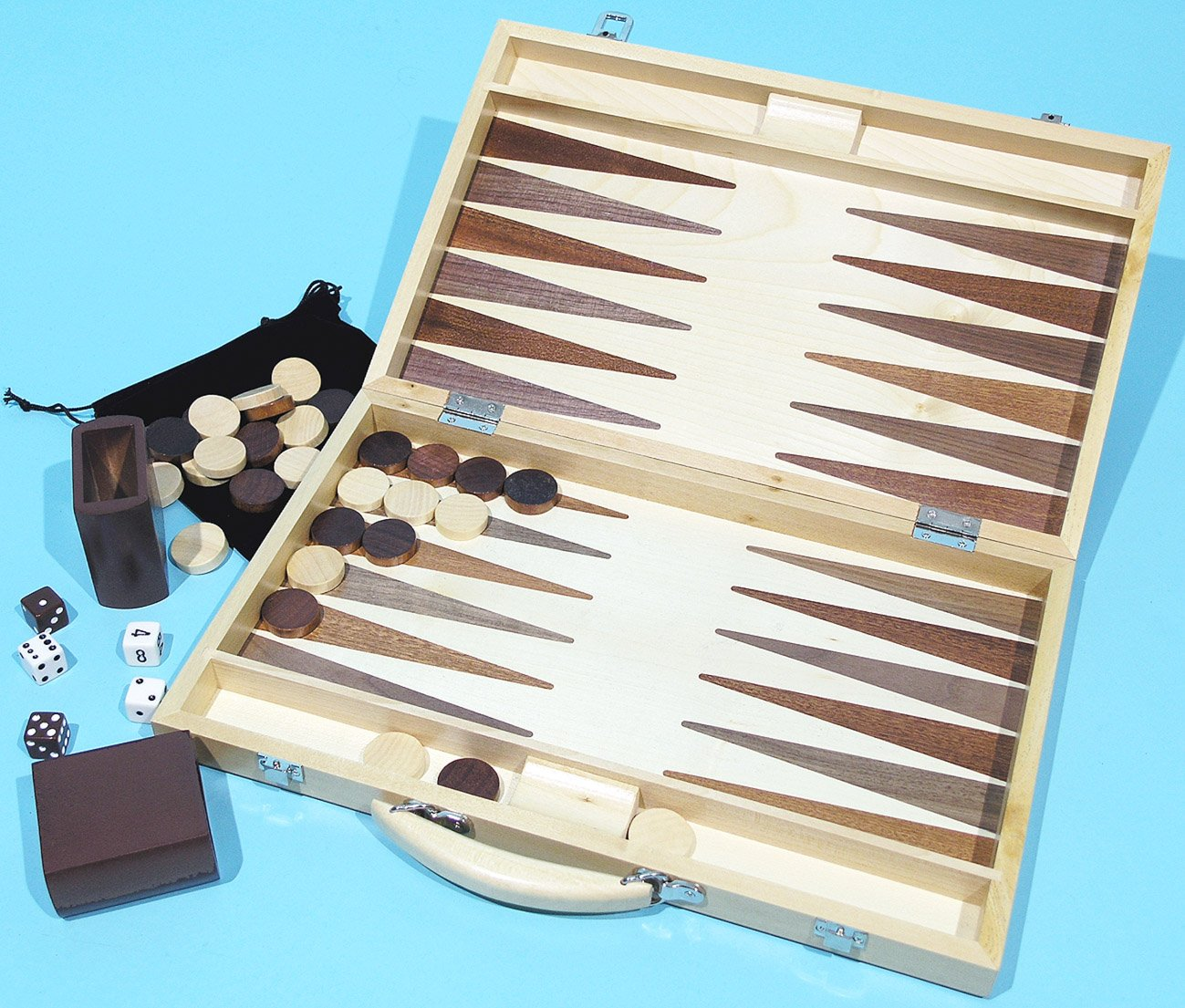A Kent & Cleal game Backgammon set, solid timber with veneered board - 00452 Kent & Cleal Games