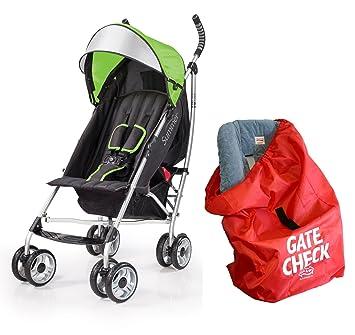 Summer Infant 3d Lite comodidad carrito con puerta Compruebe Bolsa para sillas de coche, color verde: Amazon.es: Bebé
