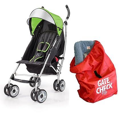 Summer Infant 3d Lite comodidad carrito con puerta Compruebe Bolsa para sillas de coche, color