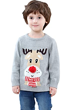 bf04351662e0 Shineflow Children Kids Rudolph Reindeer 3D Red Nose Ugly Christmas ...