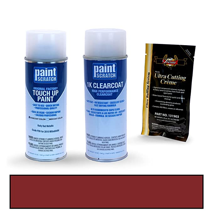 Amazon.com: PAINTSCRATCH Phantom Black Pearl U02 for 2010 Mitsubishi Lancer Evolution - Touch Up Paint Spray Can Kit - Original Factory OEM Automotive Paint ...