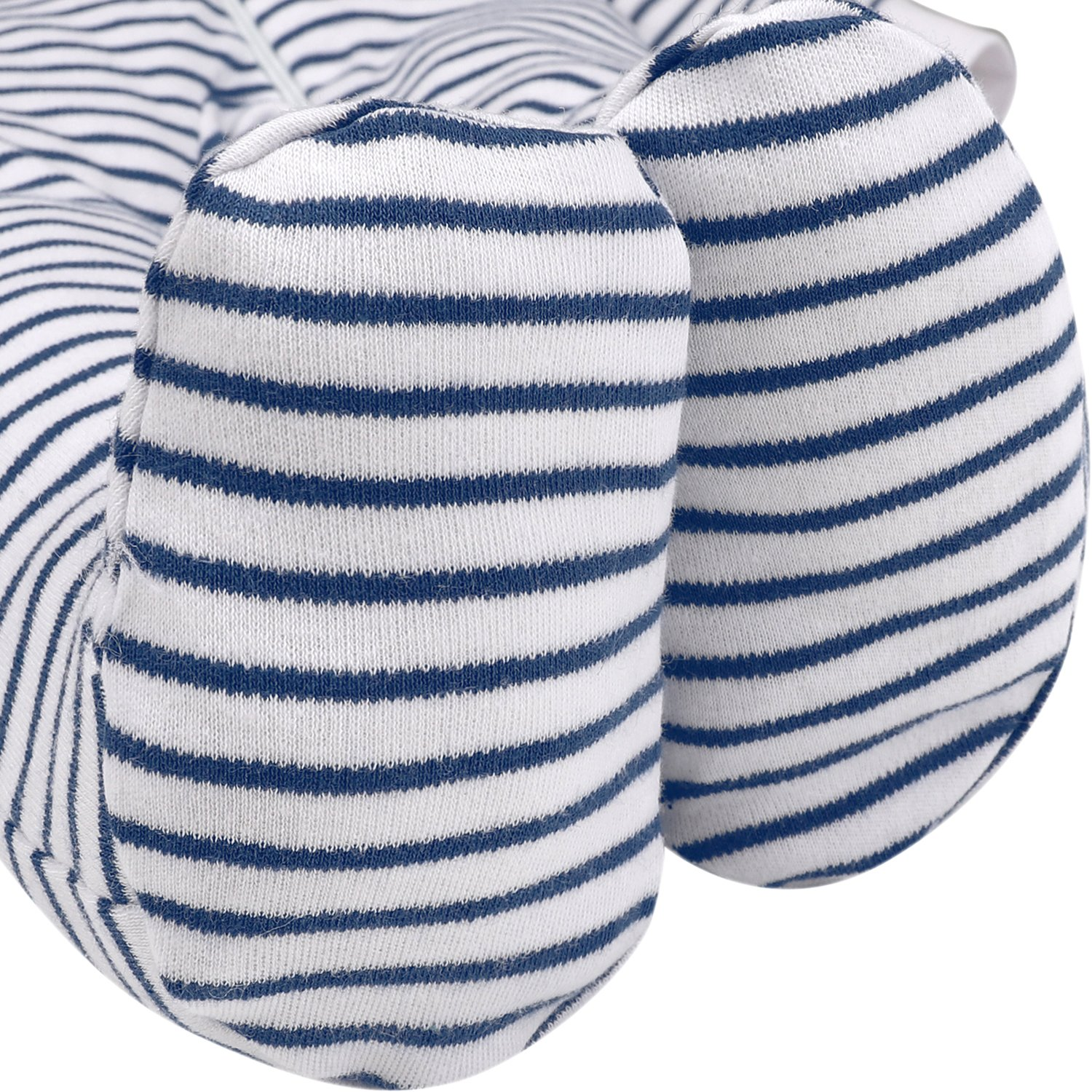 Baby Boys'2 Pack Footed Sleeper Yarn-Dyed Striped Baby Pajamas Set (Blue Dog/Grey Car, 18-24 Months) by SHENGWEN (Image #5)