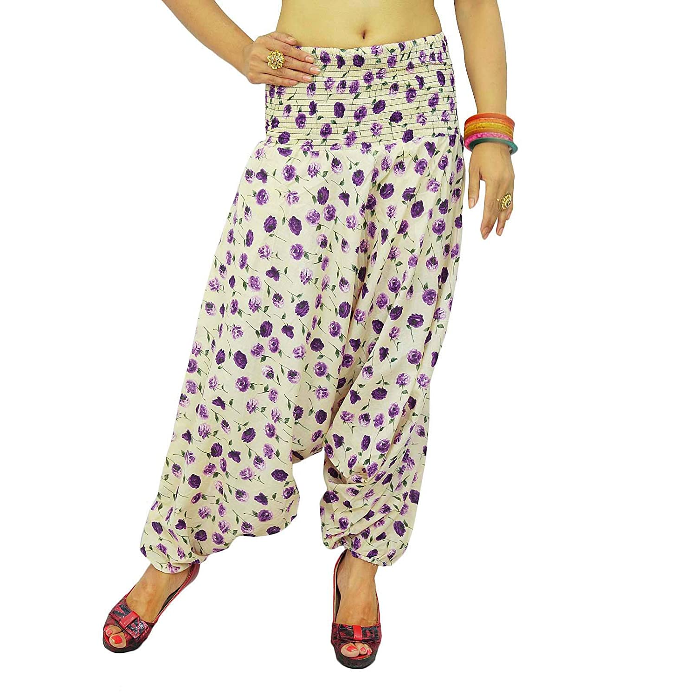 Damen-Abnutzungs-Harem-Hosen-elastische Taillen-Hosen Summer Wear Casual Pants Indien