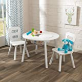 KidKraft Kids Round Table and 2 Chairs Set, White