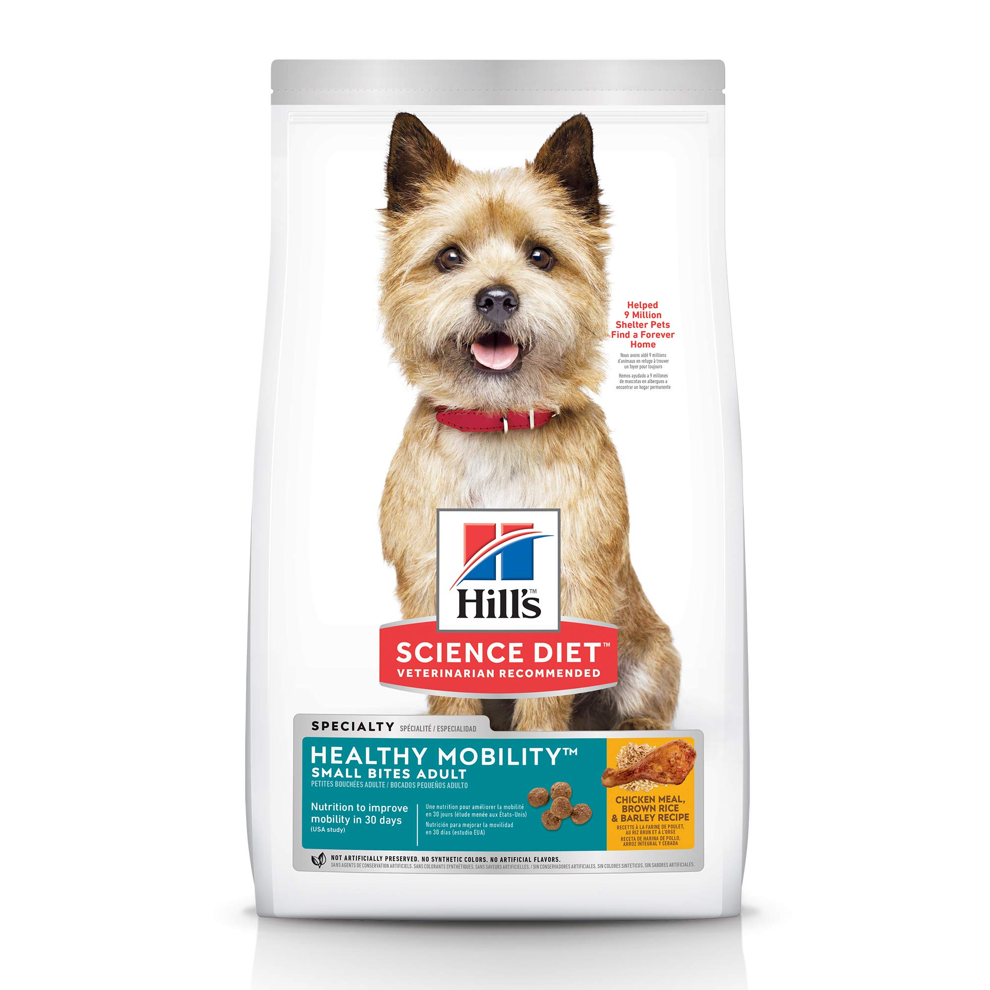 Hill's Science Diet Dry Dog Food, Adult, Healthy Mobility Small Bites, Chicken Meal, Brown Rice & Barley Recipe, 30 lb Bag by Hill's Science Diet