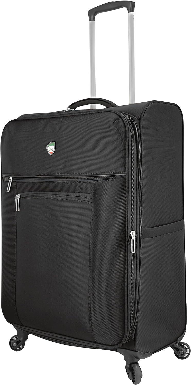 Mia Toro Italy Liguria Softside 24 Inch Spinner Luggage-Grey