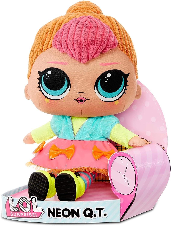 Big Penguin Stuffed Animal, Amazon Com L O L Surprise Neon Q T Huggable Soft Plush Doll Toys Games