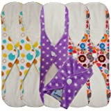Love My® /Mama/Girl/Maiden/Antibacterial Bamboo fiber/ Menstrual Pads/ Reusable/ Panty Liners - 6pcs pack-(Large size)