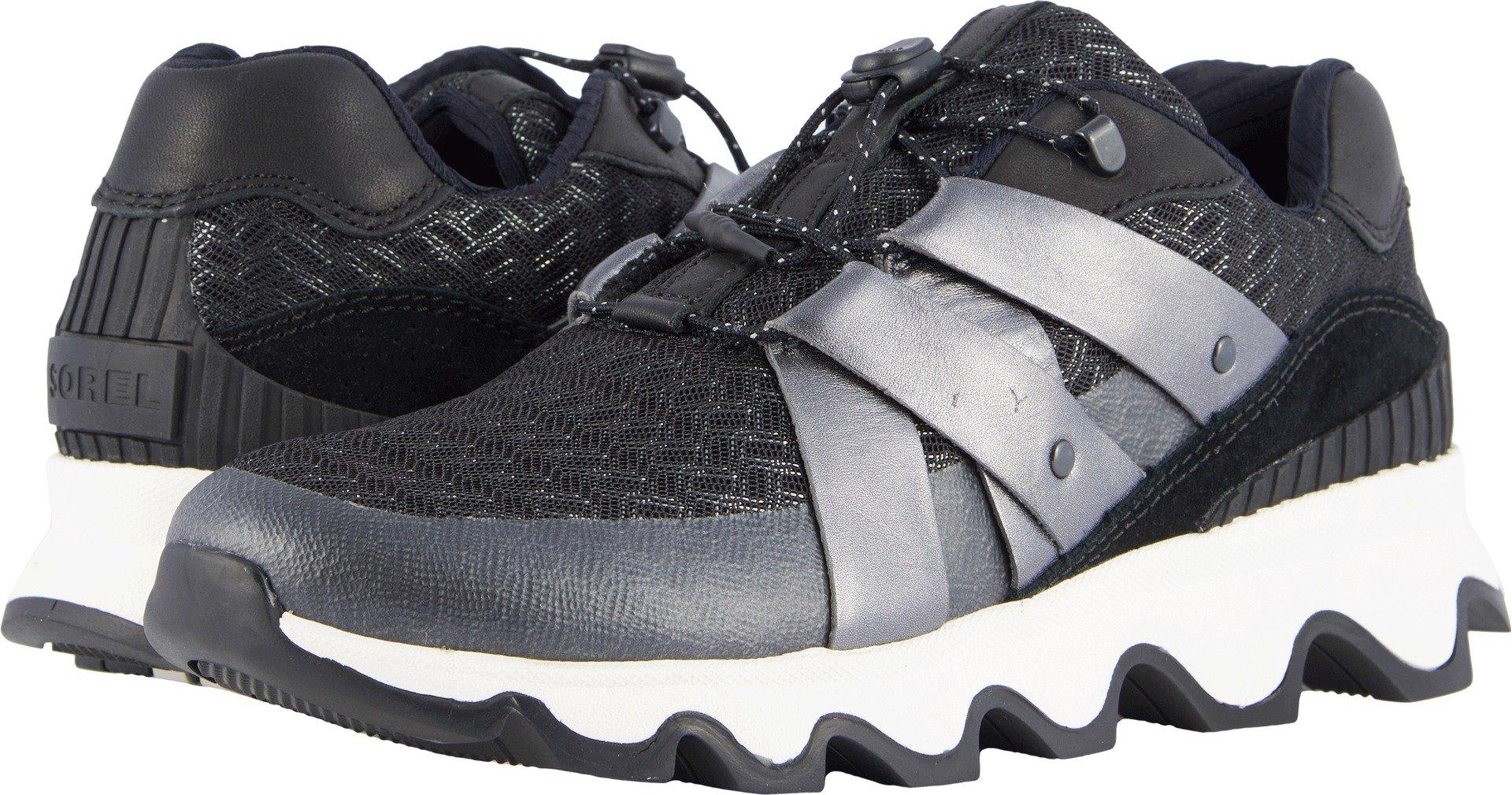 SOREL Womens Kinetic Speed Sneaker, Black, Size 8