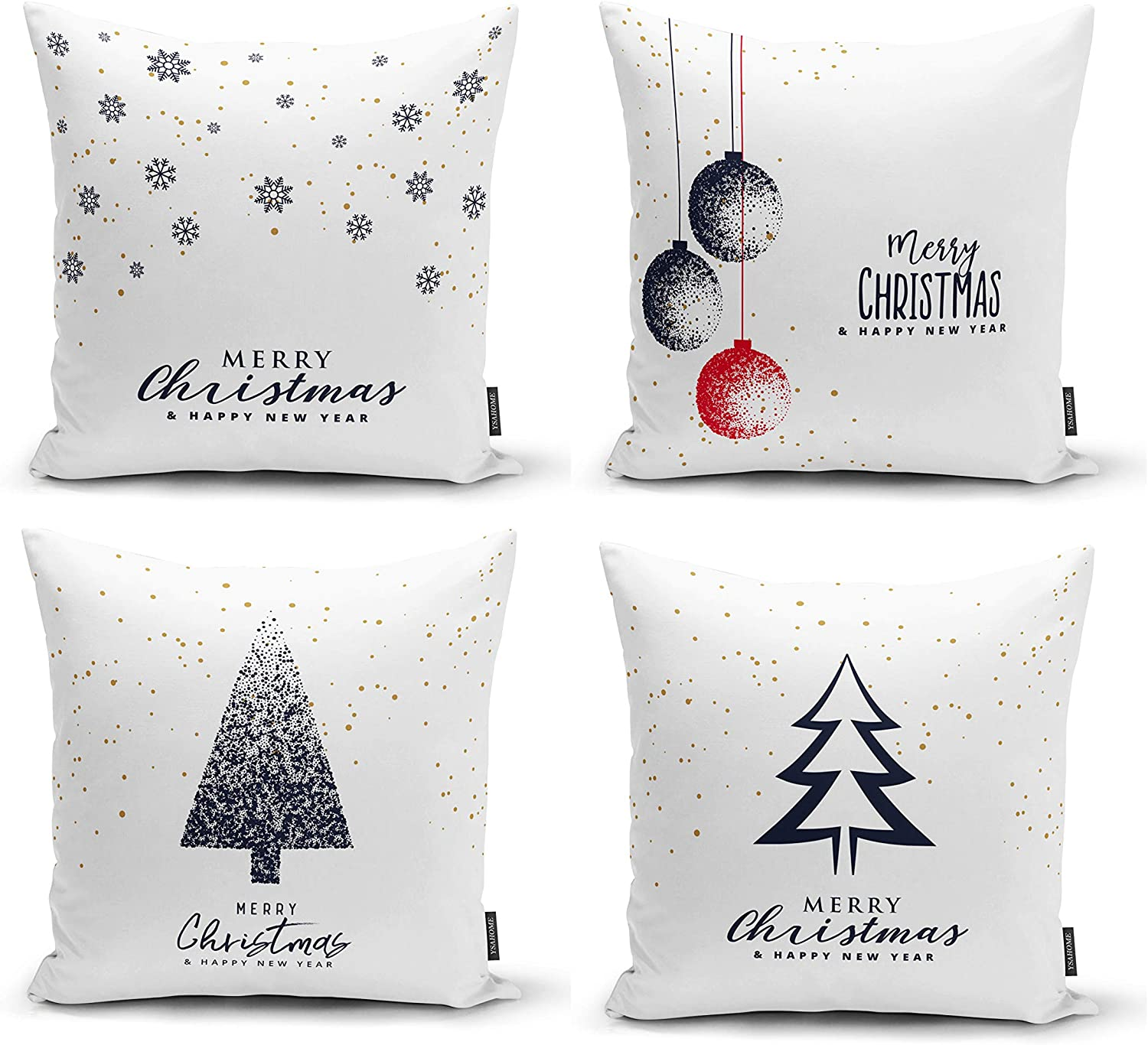 Embroidery Christmas Pillow Covers