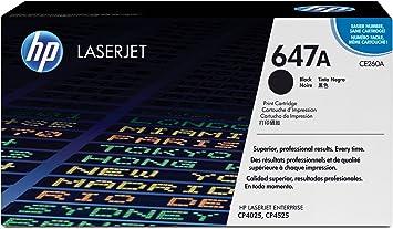 1 PK CE260A Black Toner Cartridge For HP 647A LaserJet CP4525n CP4025n Printer
