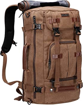 WITZMAN Convertible Large Canvas Backpack