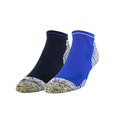 Gold Toe Golf fairway no show quedarse calcetines frescos para hombre Talla única Azul (2