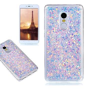 Funda Xiaomi Redmi Note 4, E-Lush Carcasa [Crystal] Bling Purpurina llamativa Silicona Funda Protectora Dura Anti-rasguño ya Prueba de Golpes Bumper ...