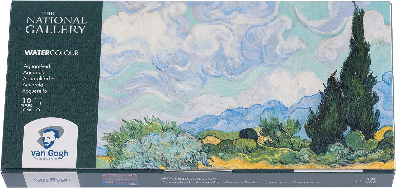 Royal Talens – Van Gogh – El National Gallery – Juego de acuarelas – 10 x 10 ml Tubos: Amazon.es: Hogar