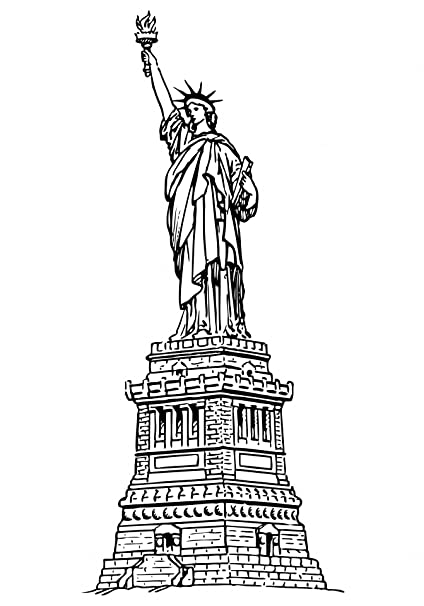 Amazon Com Home Comforts Laminated Poster Statue Liberty Clipart