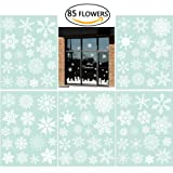 Amazon Price History for:85 Snowflake Window Clings Christmas Window Decorations 34 Different Snowflakes by NICEXMAS - Glueless PVC Stickers