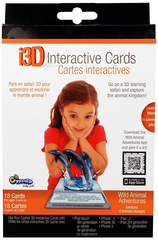 【後払い手数料無料】 Cypher Kids 3D Wild B009RQWE34 Animal Adventures 3D Cards Interactive Cards B009RQWE34, coen:d1ea8559 --- diceanalytics.pk